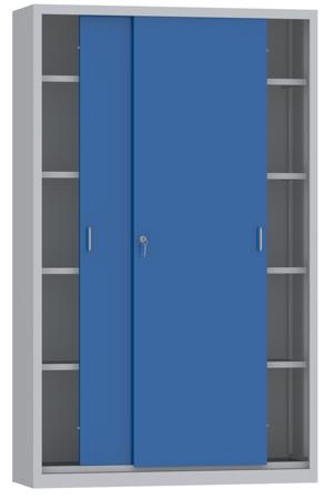 00150809 Szafa przesuwna, 4 półki (wymiary: 1950x1200x600 mm)
