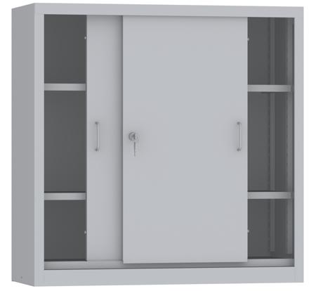 00150813 Szafa przesuwna niska, 2 półki (wymiary: 1000x1000x400 mm)