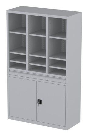 00150832 Szafa nauczycielska, 2 drzwi, 1 szuflada (wymiary: 1950x1200x500 mm)