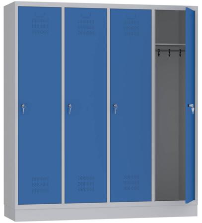 00153624 Szafa ubraniowa bez przegrody, 4 segmenty, 4 drzwi (wymiary: 1800x1590x480 mm)