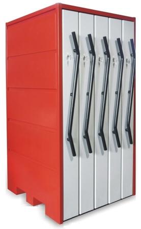 00853989 Szafa na narzędzia z wysuwanymi przedziałami ISO, 160 gniazd (wymiary: 1850x1065x1150 mm)