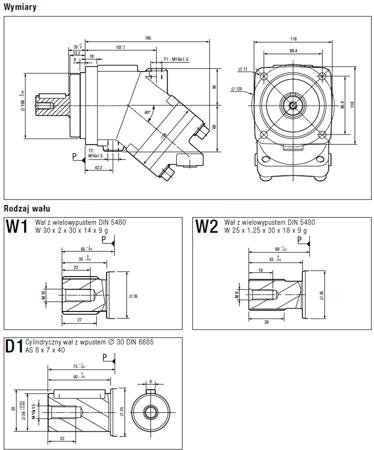 01538897 Silnik hydrauliczny tłoczkowy Hydro Leduc M41 (objętość robocza: 41 cm³, maksymalna prędkość ciągła: 5600 min-1 /obr/min)