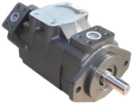 01539182 Pompa hydrauliczna łopatkowa dwustrumieniowa B&C BQ21G1708 CC01 (objętość geometryczna: 55,2+27,4 cm³, maksymalna prędkość obrotowa: 2500 min-1 /obr/min)