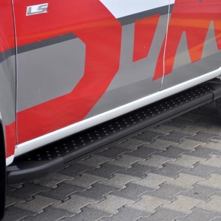 01656142 Stopnie boczne, czarne - Mercedes ML W164 2004-2011 (długość: 193 cm)