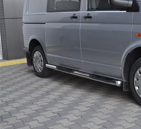 01656397 Orurowanie ze stopniami z zagłębieniami - Volkswagen T5 Long 4 stopnie