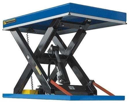 01843675 Podnośnik, podest nożycowy EHL2-5/160-2C (udźwig: 500 kg, wymiary: 1350x1000mm, skok: 1600mm, moc: 2,3kW)