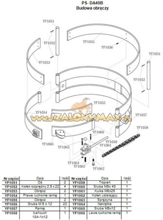 03010019 Wózek podnośnikowy ręczny do beczek PS-DA40B (udźwig: 400 kg)