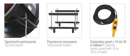 08115157 Wciągarka budowlana, linowa elektryczna Camac Minor Millennium Polipasto (udźwig: 325 kg)