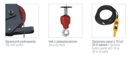 08115161 Wciągarka elektryczna linowa budowlana Camac Minor Millennium Pluma (udźwig: 325 kg)