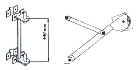08115189 Ramię robocze + maszt do wyciągarki Camac Minor Millennium Base