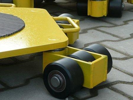 12258865 Wózek rotacyjny stały, rolki: 9x nylon (nośność: 3 T)
