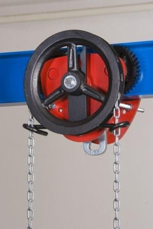 2203100 Wózek jedno-belkowy z napędem ręcznym Z420-B/1.6t/3m (wysokość podnoszenia: 3m, szerokość dwuteownika od: 58-226mm, udźwig: 1,6 T)
