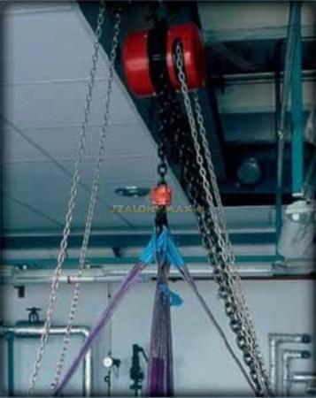 2209150 Wciągnik łańcuchowy z przekładnią planetarną Z100/250kg (wysokość podnoszenia: 5m, udźwig: 250 kg)