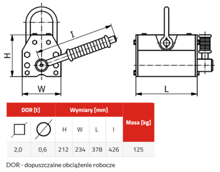 3398531 Chwytak magnetyczny z magnesem stałym PKN 2,0 (udźwig: 2 T)