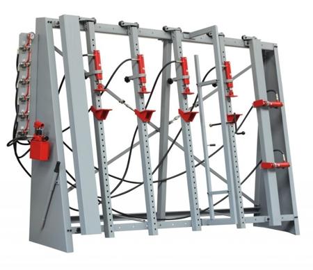44353144 Prasa do klejenia HOLZMANN VSTR 3000 (wysokość/szerokość całkowita: 2040/3000mm, ciśnienie: 6 x 2000 kg)