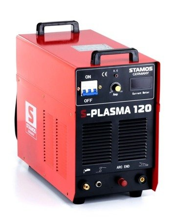 45643382 Przecinarka plazmowa Stamos S-Plasma 120/Cut 120, 400V, 3-Fazowe (prąd cięcia regulowany: 20-120A. grubość /szerokość cięcia: 35 /1,4mm)