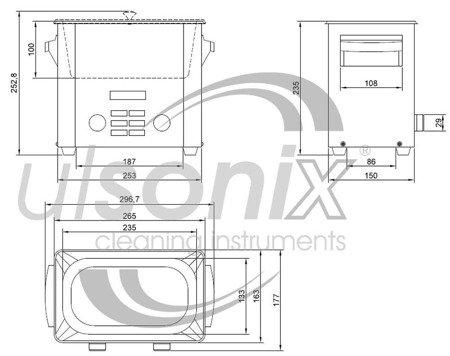 45643534 Oczyszczacz ultradźwiękowy Ulsonix Proclean 3.0DSP (moc ultradźwiękowa: 160W, pojemność: 3L)