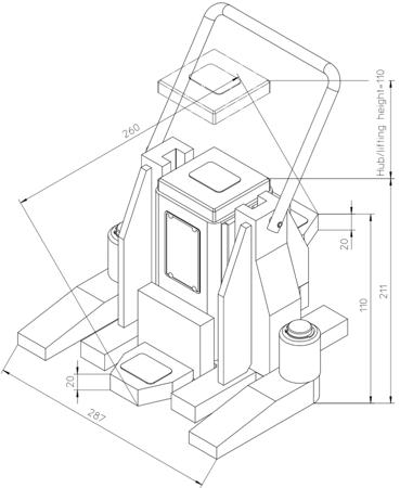 49930345 Podnośnik hydrauliczny V10K-EX (nośność: 10T)