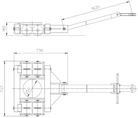 4993999 Podwozie transportowe L20 (nośność: 20T)