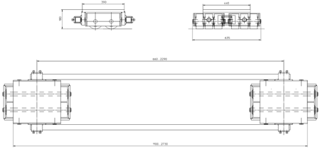 DOSTAWA GRATIS! 4994004 Podwozie transportowe (nośność: 60T)