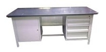 77156921 Stół warsztatowy, 4 szuflady, 1 szafka (wymiary: 2000x750x900 mm)