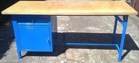 77156963 Stół warsztatowy, 1 szuflada, 1 szafka (wymiary: 2000x750x900 mm)