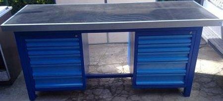 77156965 Stół warsztatowy ciężki, 10 szuflad (wymiary: 2000x750x900 mm)
