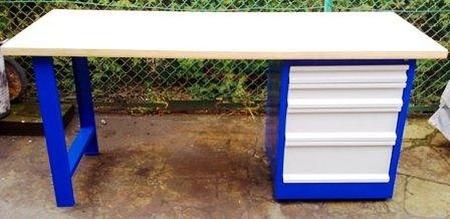 77156989 Stół warsztatowy, 4 szuflady (wymiary: 2000x750x900 mm)