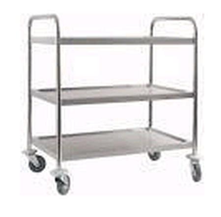 77157538 Wózek kelnerski nierdzewny, 3 półki (wymiary: 900x600x850 mm)
