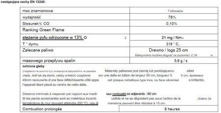 86854918 Piec wolnostojący Invicta 7kW Remilly (wylot spalin: góra, kolor: antracyt)