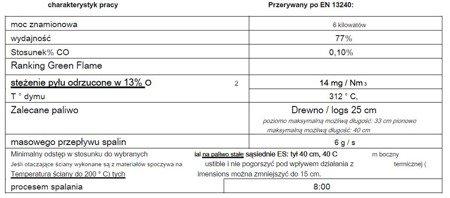 86854926 Piec wolnostojący Invicta 6kW Altais + dolot powietrza (wylot spalin: góra, kolor: antracyt)
