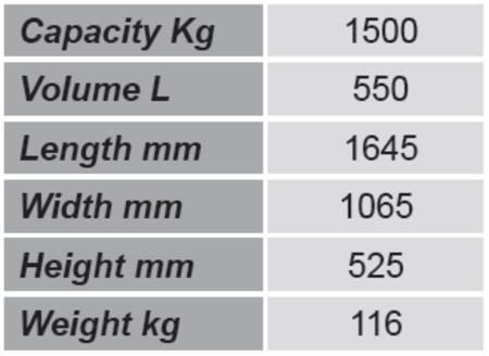 99724697 Niski pojemnik GermanTech Tippo LB 55 (pojemność: 550 L)