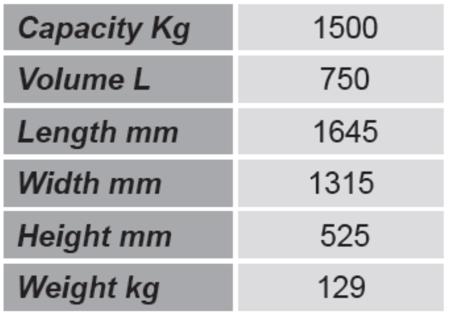 99724698 Niski pojemnik GermanTech Tippo LB 75 (pojemność: 750 L)