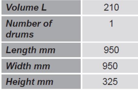 99724713 Paleta do transportu beczek GermanTech (ilość beczek: 1, wymiary: 950x950x325 mm)