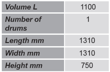 99724725 Paleta do kontenerów GermanTech (ilość kontenerów: 1, wymiary: 1310x1310x750 mm)