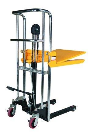 99724818 Wózek paletowy/platformowy podnośnikowy GermanTech PL-1500 HST (max wysokość: 85-1500 mm, udźwig: 400 kg, długość wideł: 650 mm)