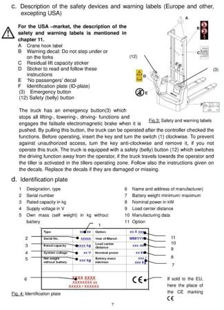 99746695 Wózek paletowy elektryczny GermanTech ECL1035 (udźwig: 1000 kg, długość wideł: 1150 mm, wysokość podnoszenia: 3500 mm)