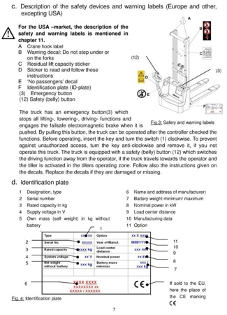 99746696 Wózek paletowy elektryczny GermanTech ECL1016 (udźwig: 1000 kg, długość wideł: 1150 mm, wysokość podnoszenia: 1600 mm)
