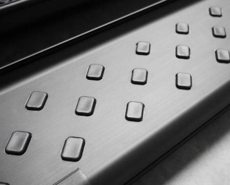 DOSTAWA GRATIS! 01656146 Stopnie boczne, czarne - Mitsubishi Outlander 2012- (długość: 171 cm)