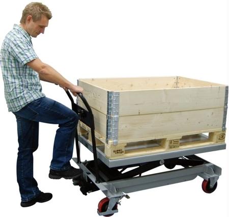 DOSTAWA GRATIS! 310556 Ruchomy stół podnośny ręczny (udźwig: 500 kg, wymiary platformy: 1200x800 mm)