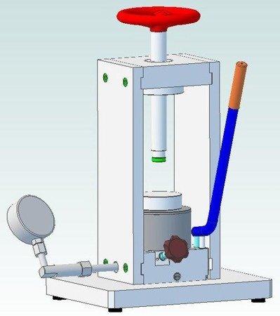 DOSTAWA GRATIS! 61716535 Prasa laboratoryjna (max siła na tłoczysku - 25T)