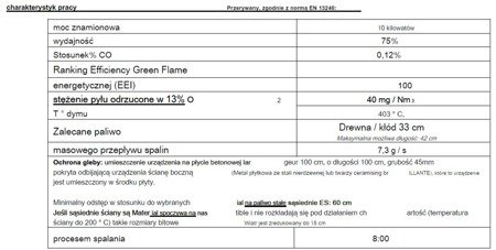 DOSTAWA GRATIS! 86829181 Piec wolnostojący Invicta 10kW Sedan 10 (kolor: emalia kość słoniowa)