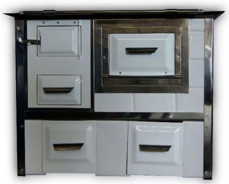 DOSTAWA GRATIS! 92238157 Kuchnia węglowa 9,5kW Monika (kolor: biały)