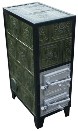 DOSTAWA GRATIS! 92238184 Piec grzewczy kaflowy 9,5kW Retro czterowarstwowy na drewno i węgiel (kolor: beż, wysokość: 100cm)