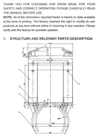 DOSTAWA GRATIS! 99724856 Uchwyt do beczek na wózek widłowy GermanTech DG40 (udźwig: 300 kg)