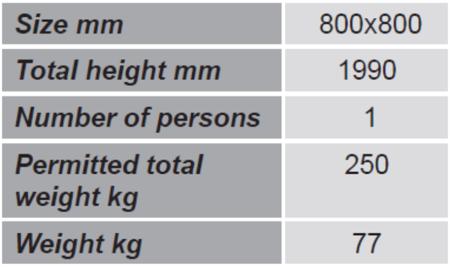 99724902 Kosz roboczy do wózka widłowego GermanTech (wymiary: 800x800 mm)