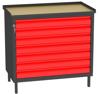00150666 Szafka warsztatowa, 7 szuflad (wymiary: 850x900x505 mm)