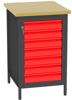 00150687 Stanowisko pod wiertarkę, 7 szuflad (wymiary: 880x550x600 mm)