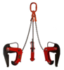 3398557 Zawiesie łańcuchowe 3-cięgnowe zakończone uchwytami do podnoszenia kręgów betonowych GDA 4,0 (udźwig: 4 T, zakres chwytania: 90-220 mm)